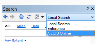 image of search options drop-down