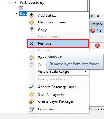 Remove basemap layer