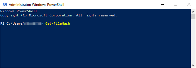 Windows Powershell Administrator pane