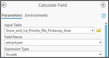 Calculate field window