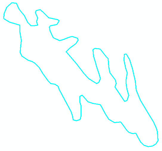 Higlighted section of the polylines