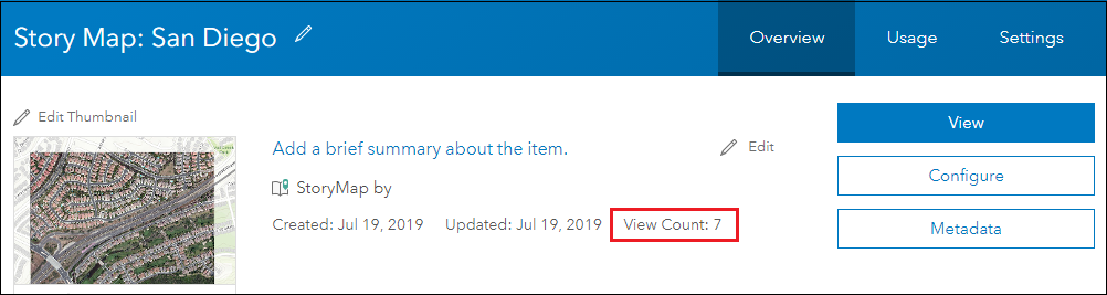 View counts in ArcGIS StoryMaps