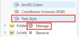 Manage option