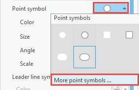 Color drop-down menu