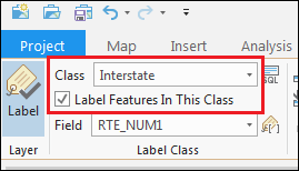 Make sure the Label Feature In This Class box is checked.