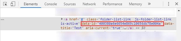 data-id attribute