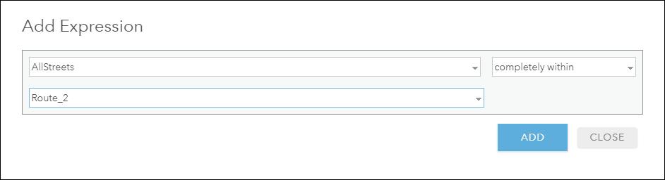 Add expression window