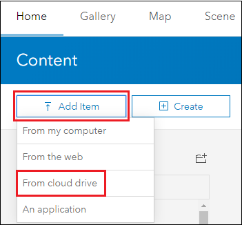 Image of the Add data from cloud drive.