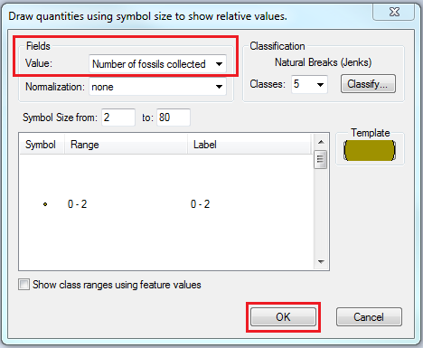Specify the variation of the related data.