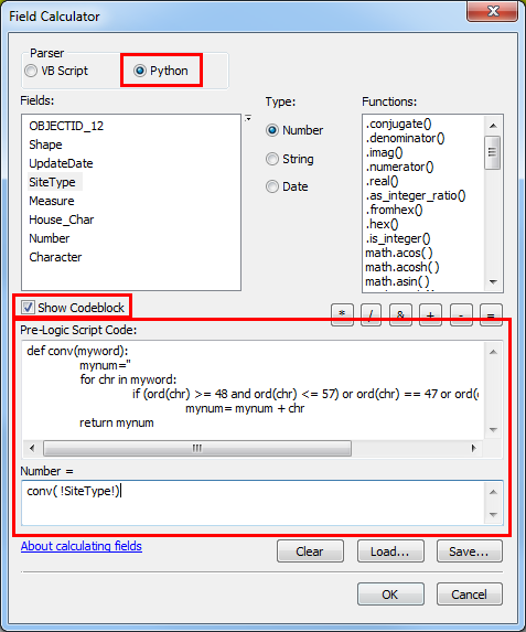 An image of the Field Calculator dialog box.