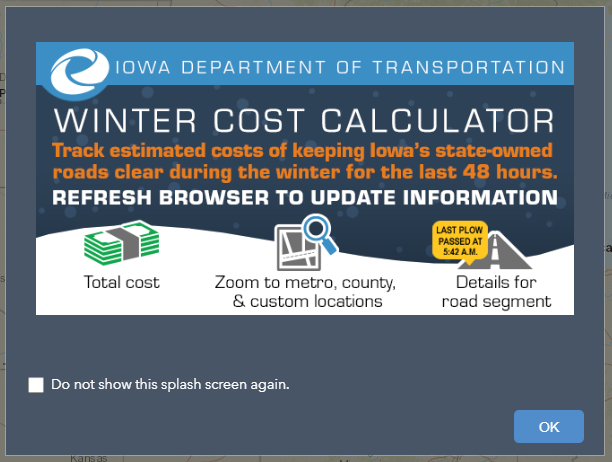 The Winter Cost Calculation web app