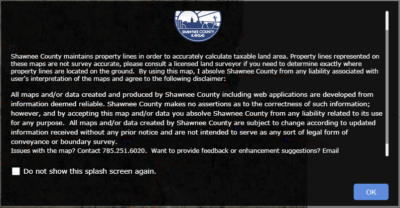 Shawnee County, KS Property Search web app