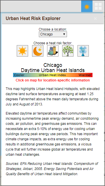 The Urban Heat Risk Explorer App web app