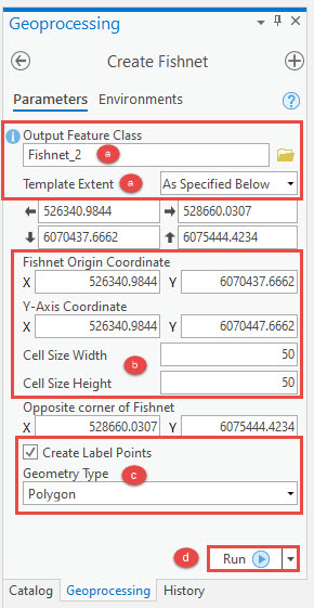 Create Fishnet pane