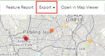 Image showing Export option active