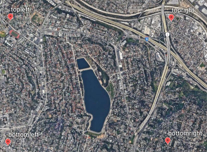 包含地标的 Google Earth 图像的图像。