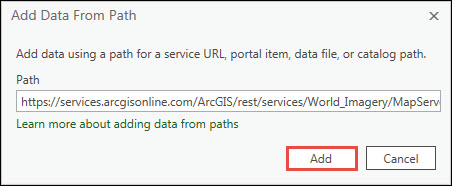 Image showing the Add Data From Path window