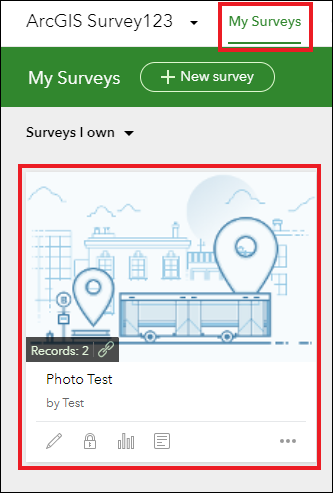Image of the ArcGIS Survey123 website