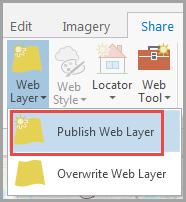 Image of selecting Publish Web Layer