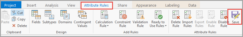 Saving the changes made to the rule properties to enable the editing.