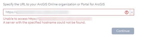 The error message returned