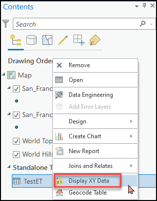 Select the Display XY Data option to enable the Z-values.