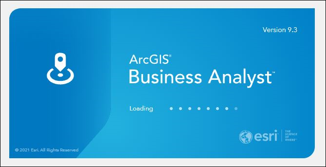 The ArcGIS Business Analyst login page.