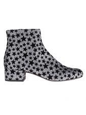 Saint Laurent Stars Pattern Ankle Boots