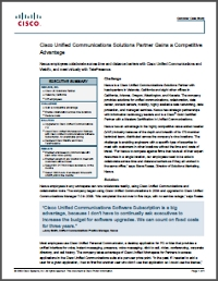 Cisco Unified Communications Solutions Partner Gains a Competitive Advantage