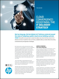 Cloud Convergence: Redefining The IT Delivery Strategy