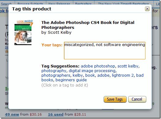 Fast Tagging on Amazon.com