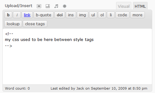 How to allow Style tag/element within your WordPress Blog