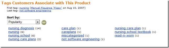 Miscategoized  Tags on Amazon.com