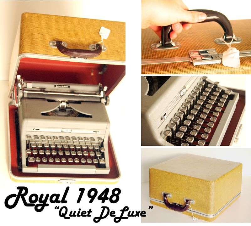 Royal1948typewriter collage