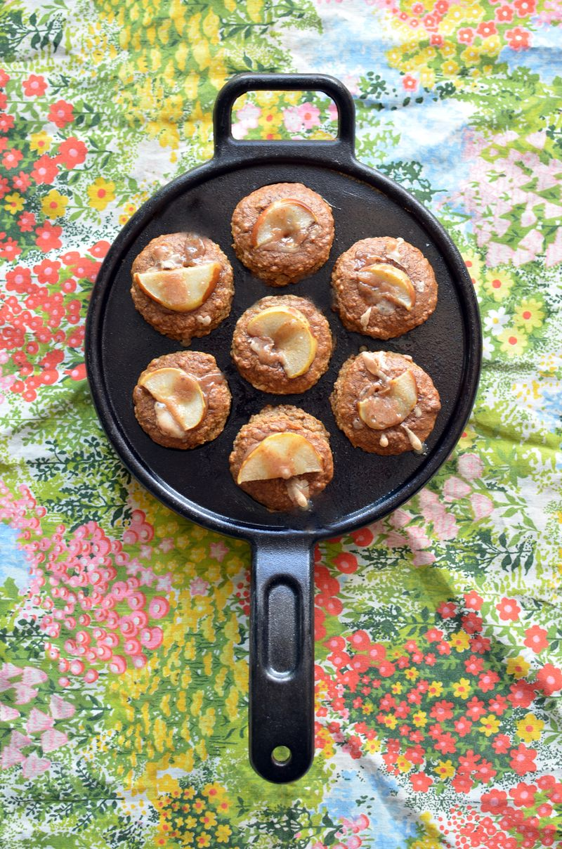 Muffin in skillet