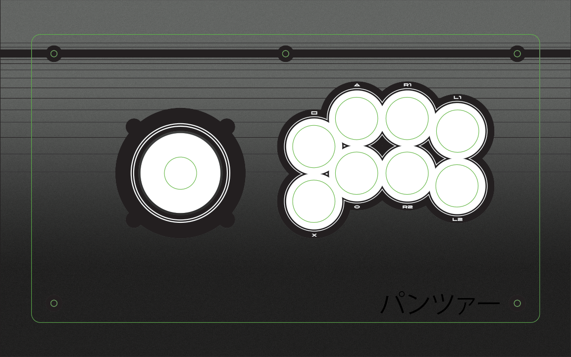 Panzer Fight Stick 3 - Printed Plexi  [Vewlix] - [Lever Based]