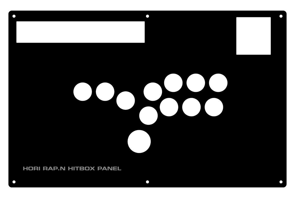 Hori RAP.N Replacement Panel - Hitbox Layout