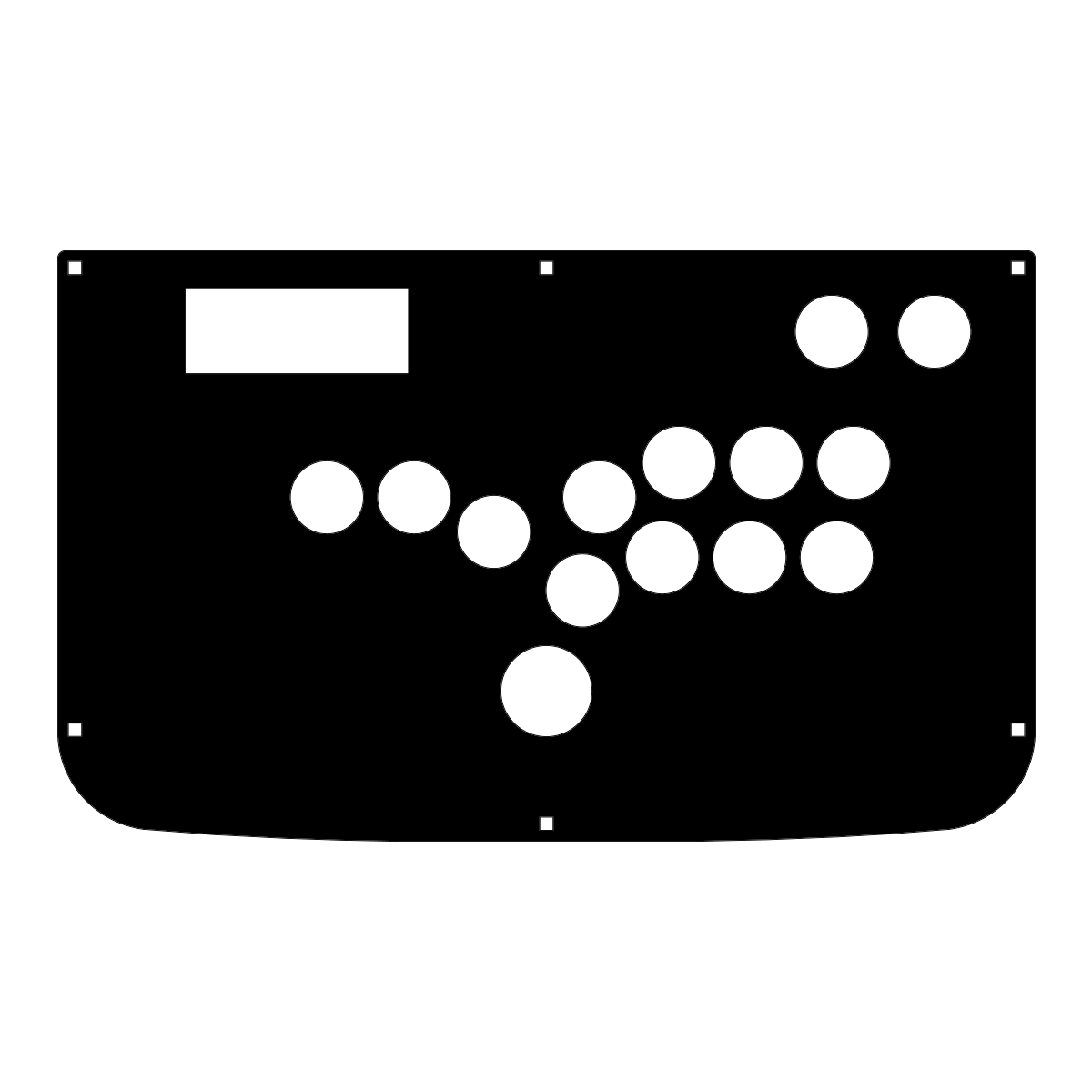 Hori RAP3 Replacement Panel - Hitbox Layout
