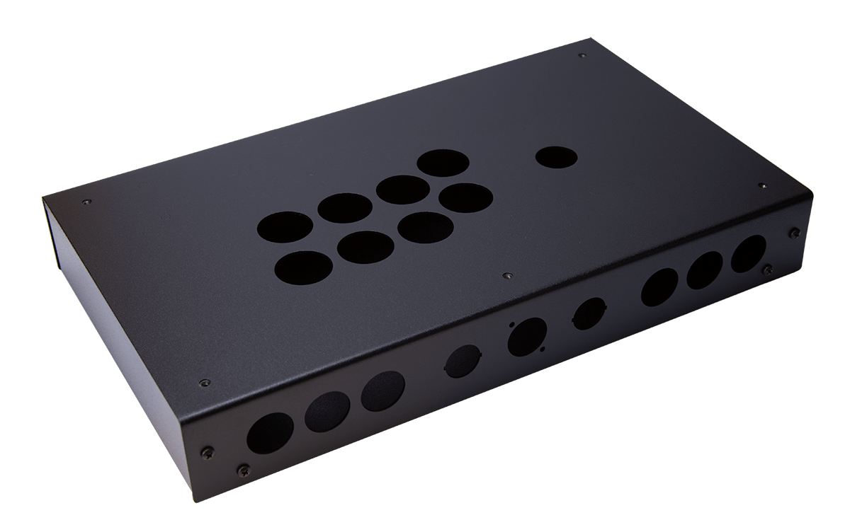 Panzer Fight Stick ALUMINUM - DIY Kit [BLACK SANDTEX]