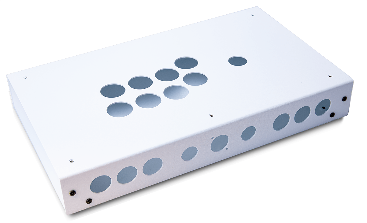 Panzer Fight Stick ALUMINUM - DIY Kit [WHITE SANDTEX]