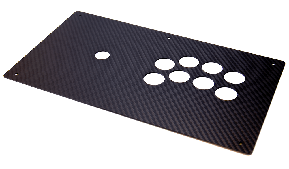 Panzer Fight Stick Carbon Fiber Overlay