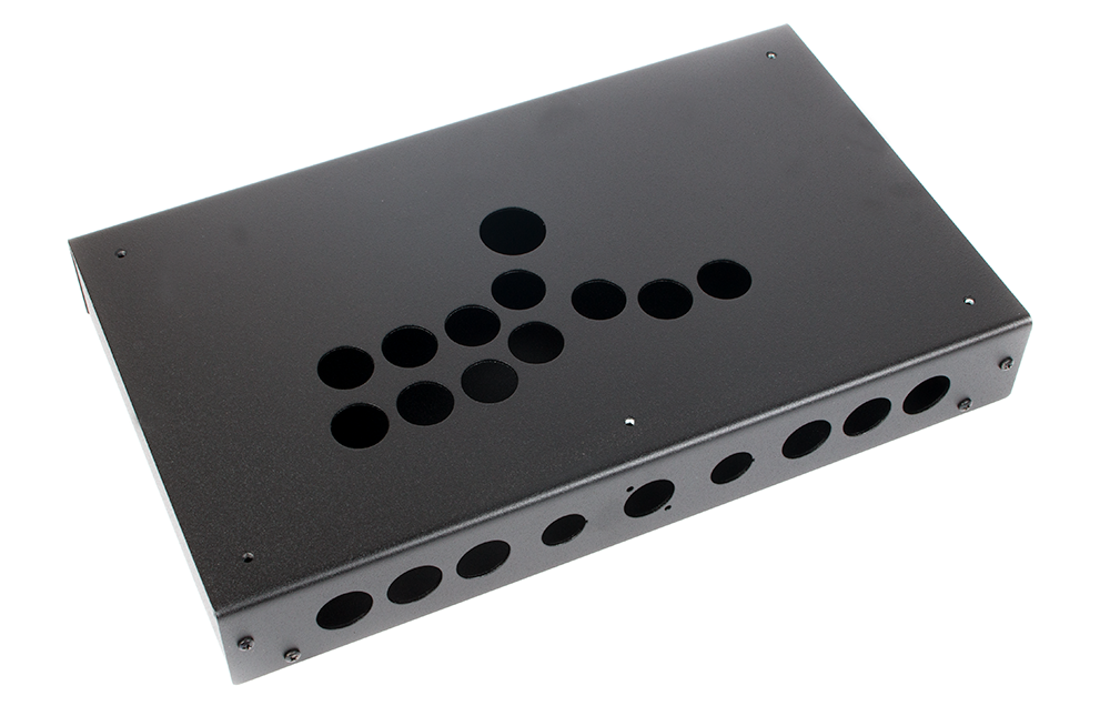 Panzer Fight Stick ALUMINUM HITBOX- DIY Kit [BLACK SANDTEX]