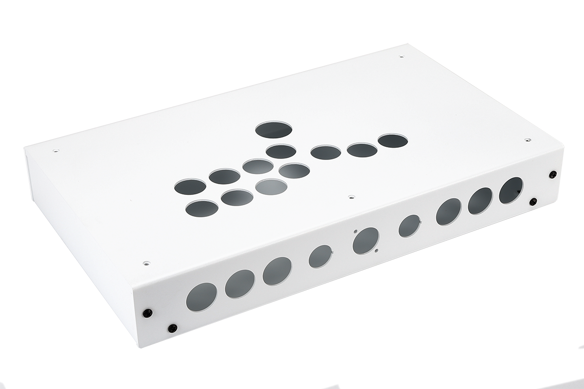 Panzer Fight Stick ALUMINUM HITBOX- DIY Kit [WHITE SANDTEX]