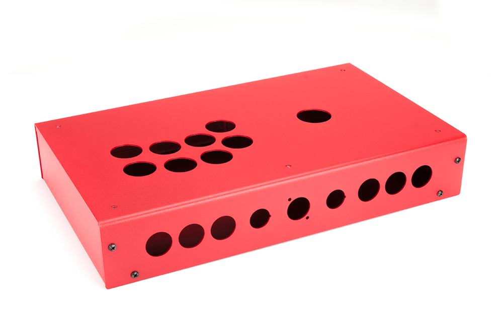 Panzer Fight Stick 3i - DIY Kit [RED SANDTEX]