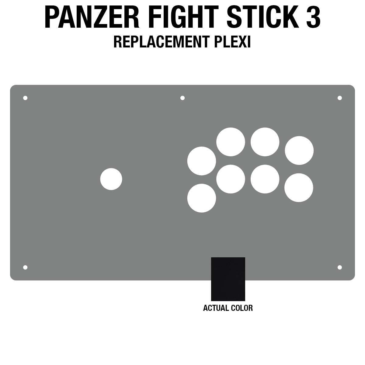 Panzer Fight Stick 3 Plexi - Black Gloss (8 Buttons)