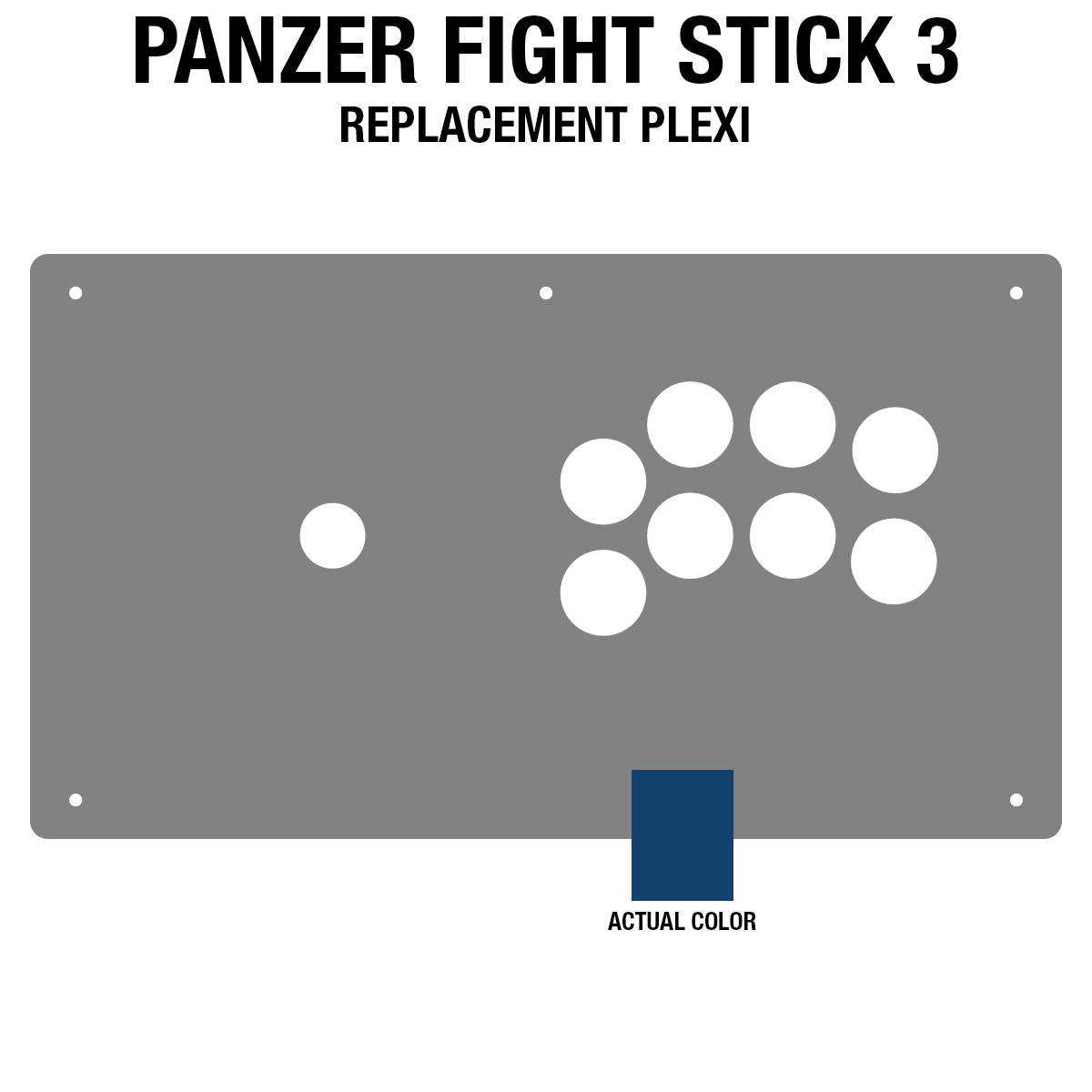 Panzer Fight Stick 3 Plexi - Blue Frosted (8 Buttons)