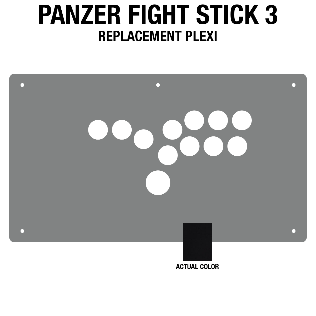 Panzer Fight Stick 3 [HITBOX] Plexi - Black Gloss (8 Buttons)