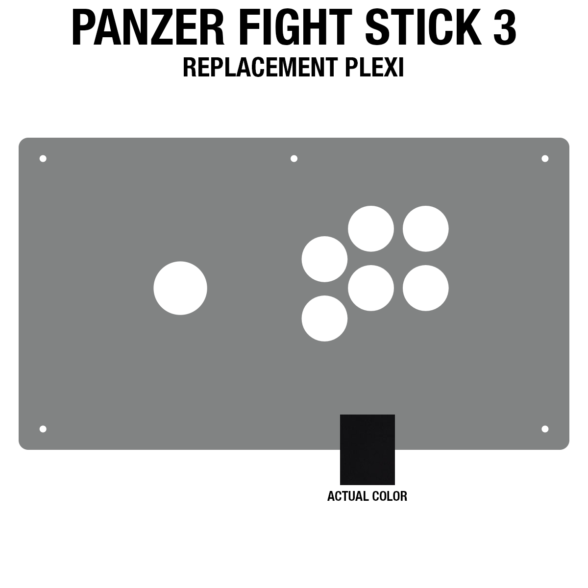 Panzer Fight Stick 3 [KOREAN EDITION] Plexi - Black Gloss (6 Buttons)