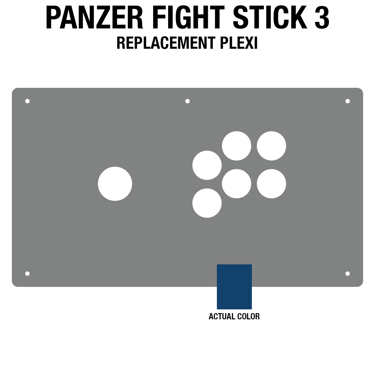 Panzer Fight Stick 3 [KOREAN EDITION] Plexi - Blue Frosted (6 Buttons)