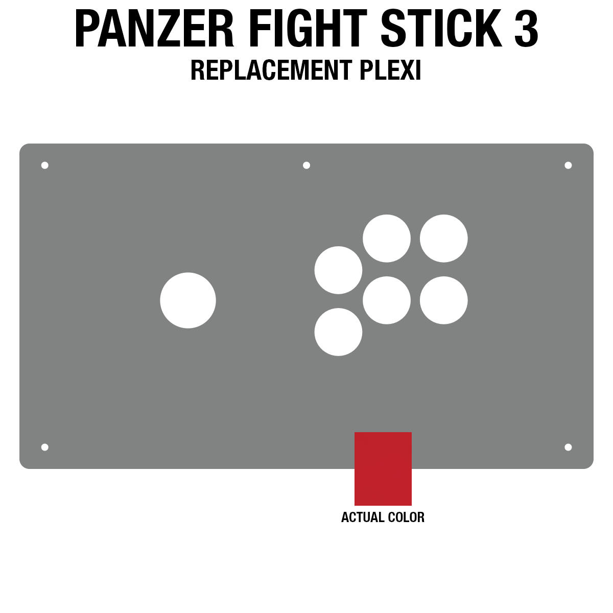 Panzer Fight Stick 3 [KOREAN EDITION] Plexi - Red Frosted (6 Buttons)